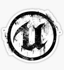 Unreal - Black Sticker