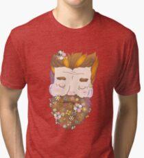 Flower beard Tri-blend T-Shirt