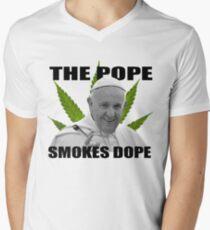 Dope Smokin', Hardcore Popein' - ONE:Print Men's V-Neck T-Shirt