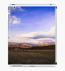 cloudy sky on italian mountains iPad Case/Skin