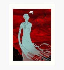 Godess Diotima digital drawing Art Print