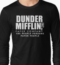 Dunder Mifflin The People Persons Paper People Long Sleeve T-Shirt