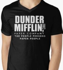 Dunder Mifflin The People Persons Paper People Men's V-Neck T-Shirt
