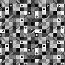 B & W Pop Pattern by Morgan Ralston