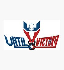 Until Victory Logo Design #2 Photographic Print