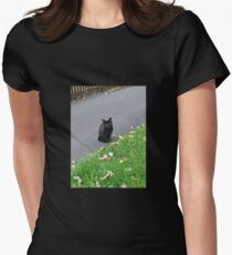 Piercing Eyes - October Kitty Womens Fitted T-Shirt