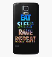 Eat Sleep Rave Repeat Case/Skin for Samsung Galaxy