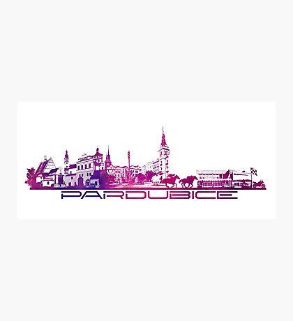Pardubice skyline city purple Photographic Print