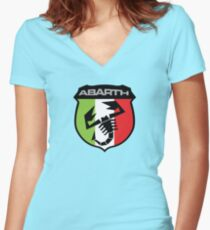 Abarth (ita) Women's Fitted V-Neck T-Shirt