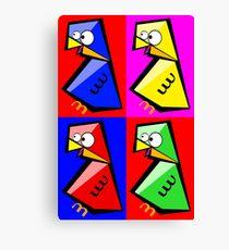 Birds Warhol like Canvas Print