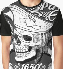 Jolly-Roger-Pirate-Flag-Blackboard Graphic T-Shirt
