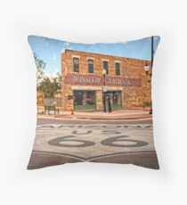 Flatbed Ford and Winslow Route 66 Throw Pillow