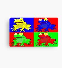 Frog warhol like Canvas Print