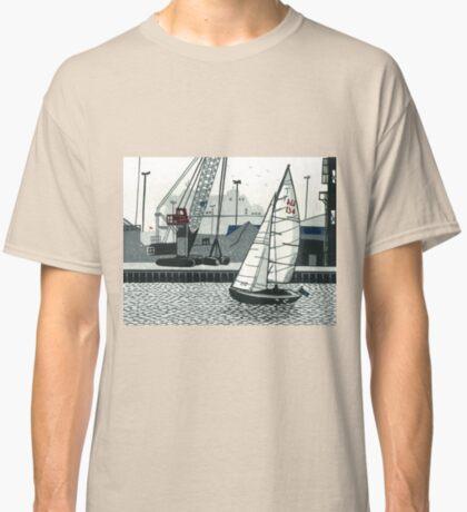 Poole Quay - Original linocut by Francesca Whetnall Classic T-Shirt