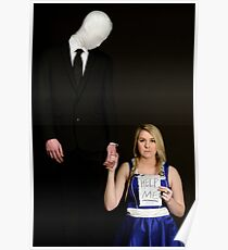 Slender Man and friend cosplay Poster