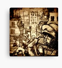 This is War on a Post-It Note Canvas Print