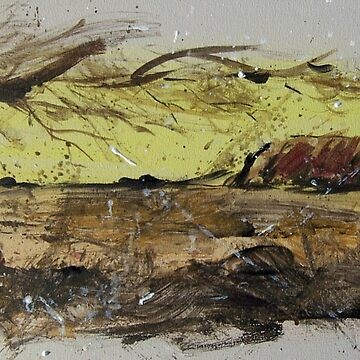 Ayers Rock splatter painting by MrCreator