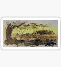 Ayers Rock splatter painting Sticker