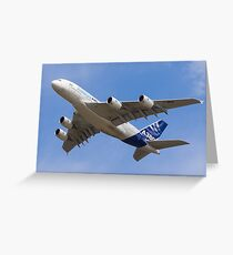 A380 Flypast Greeting Card