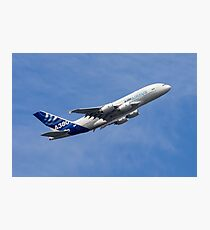 A380 Climbs Photographic Print