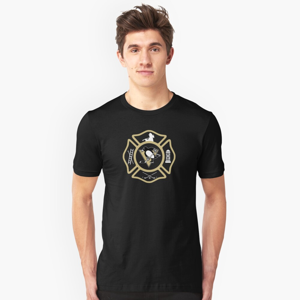 Pittsburgh Fire - Penguins style Unisex T-Shirt Front