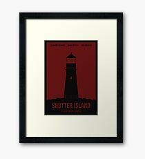 Shutter Island film poster Framed Print