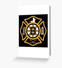 Boston Fire - Bruins style Greeting Card