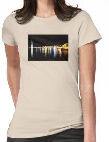 Lake Geneva by night Womens Fitted T-Shirt