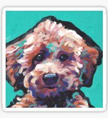 Toy Poodle Dog Bright colorful pop dog art Sticker