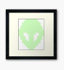 Pixel Alien Framed Print