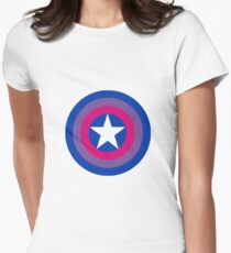 Captain Bisexual Womens Fitted T-Shirt