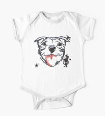 Smiling Staffy  One Piece - Short Sleeve