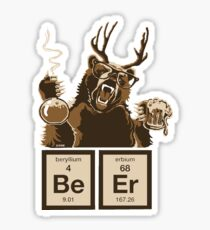 Chemistry bear discovered beer Sticker