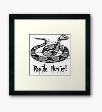 Reptile Hunter! Framed Print