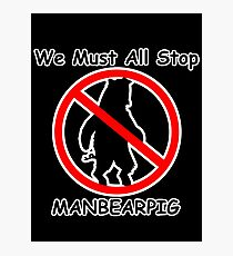 MANBEARPIG (South Park) (Al Gore) Photographic Print