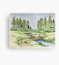 Hills landscape Canvas Print