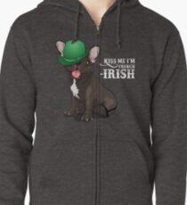 Kiss me I'm French-Irish  Zipped Hoodie