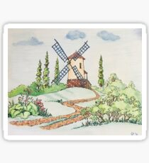 Windmill Lanscape Sticker