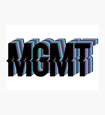 MGMT Original Logo Photographic Print