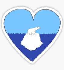 Polar Bear Love Sticker