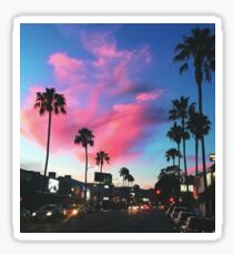 Palm Tree Sunset Sticker