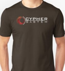 Cypher System Logo Weiß-Unisex T-Shirts Unisex T-Shirt