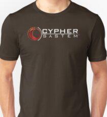 Cypher System Logo White-Unisex T-Shirts Slim Fit T-Shirt