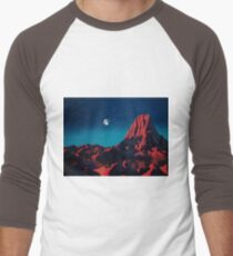 Space art landscape: Loneliness Men's Baseball ¾ T-Shirt