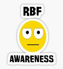 RBF survivor (Black text) Sticker