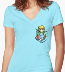 Pocket Link  Women's Fitted V-Neck T-Shirt