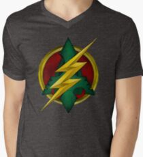 Flash-Arrow  Men's V-Neck T-Shirt