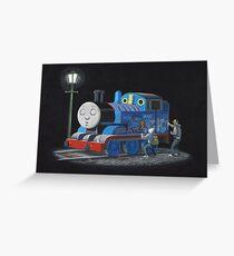Thomas The Tank Engine - Banksy Artwork Greeting Card