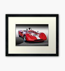 1961 Huffaker Genie Vinage FIA Racecar Framed Print