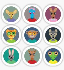 Animals faces  Sticker